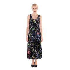 Universe Star Planet All Colorful Sleeveless Maxi Dress