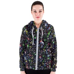 Universe Star Planet All Colorful Women s Zipper Hoodie