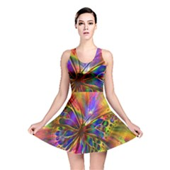 Arrangement Butterfly Aesthetics Reversible Skater Dress