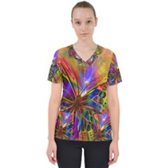 Arrangement Butterfly Aesthetics Scrub Top