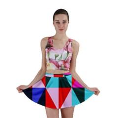 Geometric Pattern Mini Skirt