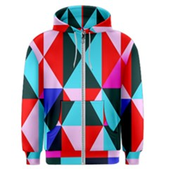 Geometric Pattern Men s Zipper Hoodie
