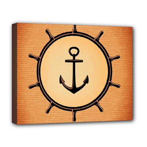 Nautical Anchor Marine Ocean Sea Deluxe Canvas 20  X 16