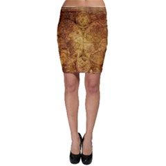 Map Of The World Old Historically Bodycon Skirt