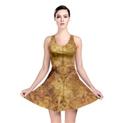 Map Of The World Old Historically Reversible Skater Dress