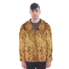 Map Of The World Old Historically Hooded Wind Breaker (men)