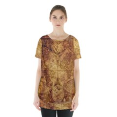 Map Of The World Old Historically Skirt Hem Sports Top