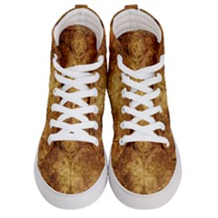 Map Of The World Old Historically Men s Hi Top Skate Sneakers