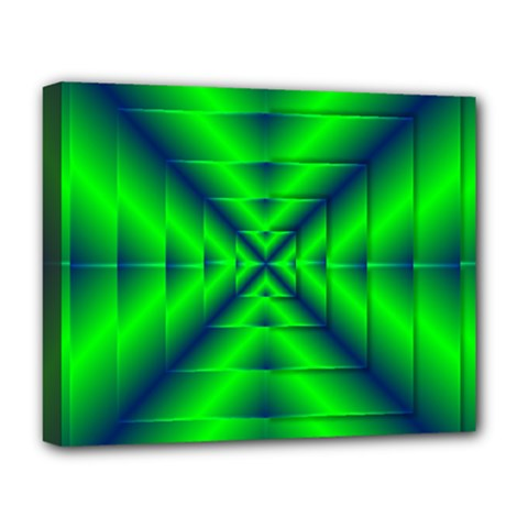 Shiny Lime Navy Sheen Radiate 3d Deluxe Canvas 20  X 16