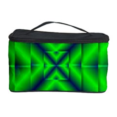 Shiny Lime Navy Sheen Radiate 3d Cosmetic Storage Case