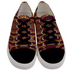 Geometric Tapestry Men s Low Top Canvas Sneakers