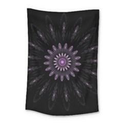 Fractal Mandala Delicate Pattern Small Tapestry