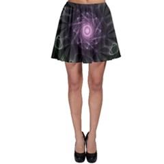 Mandala Fractal Light Light Fractal Skater Skirt