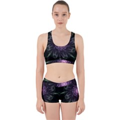 Mandala Fractal Light Light Fractal Work It Out Sports Bra Set