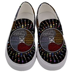 Whole Complete Human Qualities Men s Canvas Slip Ons