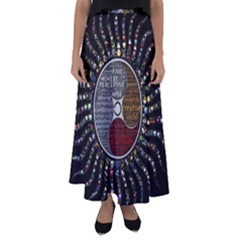 Whole Complete Human Qualities Flared Maxi Skirt