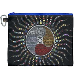 Whole Complete Human Qualities Canvas Cosmetic Bag (xxxl)