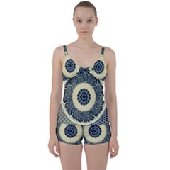 Background Vintage Japanese Tie Front Two Piece Tankini