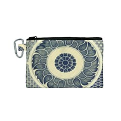 Background Vintage Japanese Canvas Cosmetic Bag (small)
