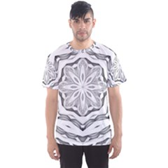 Mandala Pattern Floral Men s Sports Mesh Tee