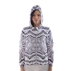 Mandala Pattern Floral Hooded Wind Breaker (women)