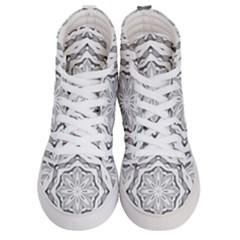 Mandala Pattern Floral Men s Hi Top Skate Sneakers