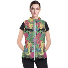 Mandala Figure Nature Girl Women s Puffer Vest