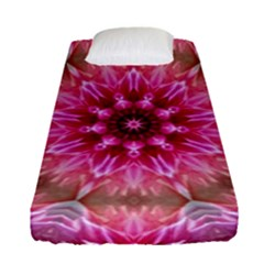 Flower Mandala Art Pink Abstract Fitted Sheet (single Size)