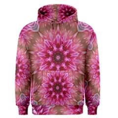 Flower Mandala Art Pink Abstract Men s Pullover Hoodie