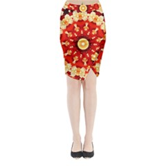 Abstract Art Abstract Background Midi Wrap Pencil Skirt