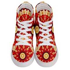 Abstract Art Abstract Background Men s Hi Top Skate Sneakers