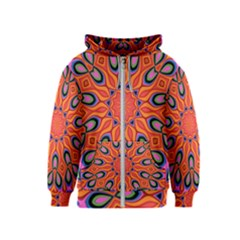 Abstract Art Abstract Background Kids  Zipper Hoodie