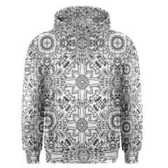 Mandala Pattern Line Art Men s Pullover Hoodie