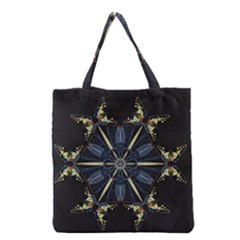 Mandala Butterfly Concentration Grocery Tote Bag