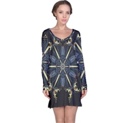 Mandala Butterfly Concentration Long Sleeve Nightdress