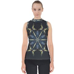 Mandala Butterfly Concentration Shell Top