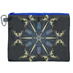 Mandala Butterfly Concentration Canvas Cosmetic Bag (xxl)
