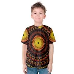 Mandala Psychedelic Neon Kids  Cotton Tee
