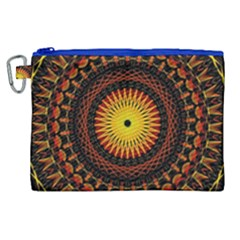 Mandala Psychedelic Neon Canvas Cosmetic Bag (xl)