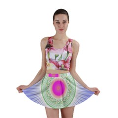 Flower Abstract Floral Mini Skirt