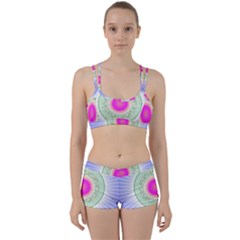 Flower Abstract Floral Women s Sports Set