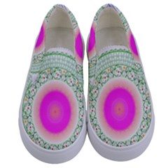 Flower Abstract Floral Kids  Canvas Slip Ons