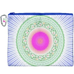 Flower Abstract Floral Canvas Cosmetic Bag (xxxl)