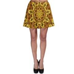 Abstract Antique Art Background Skater Skirt