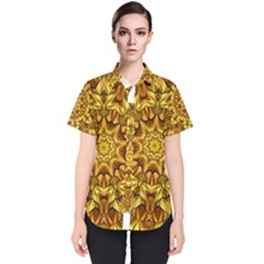 Abstract Antique Art Background Women s Short Sleeve Shirt