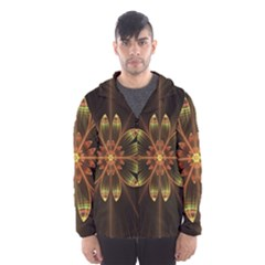 Fractal Floral Mandala Abstract Hooded Wind Breaker (men)