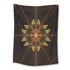 Fractal Floral Mandala Abstract Medium Tapestry