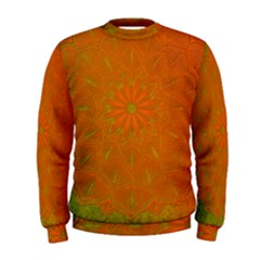 Background Paper Vintage Orange Men s Sweatshirt