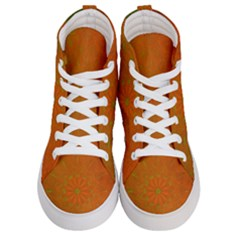 Background Paper Vintage Orange Women s Hi Top Skate Sneakers