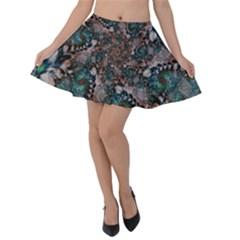 Art Artwork Fractal Digital Art Velvet Skater Skirt